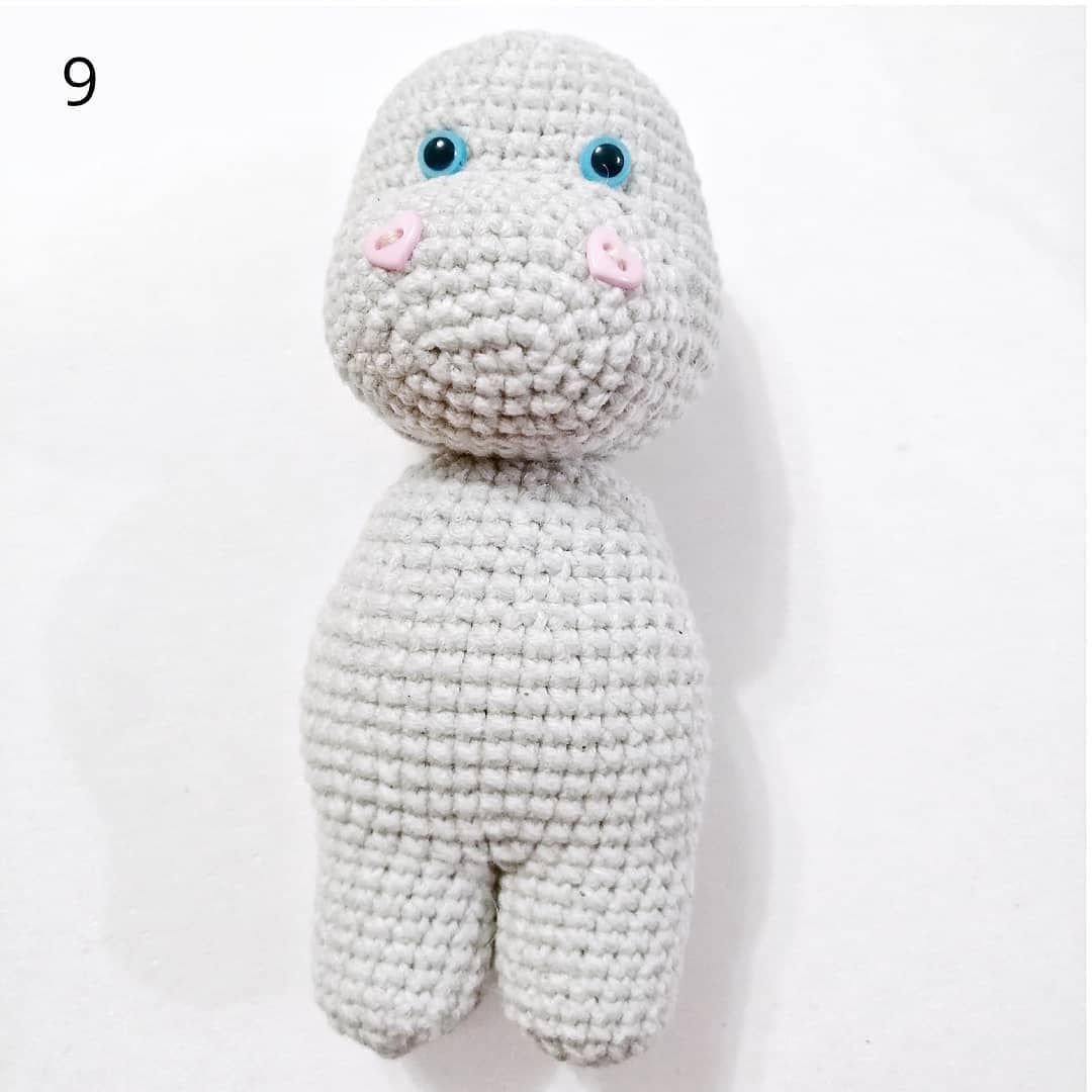 Crochet hippo tutorial