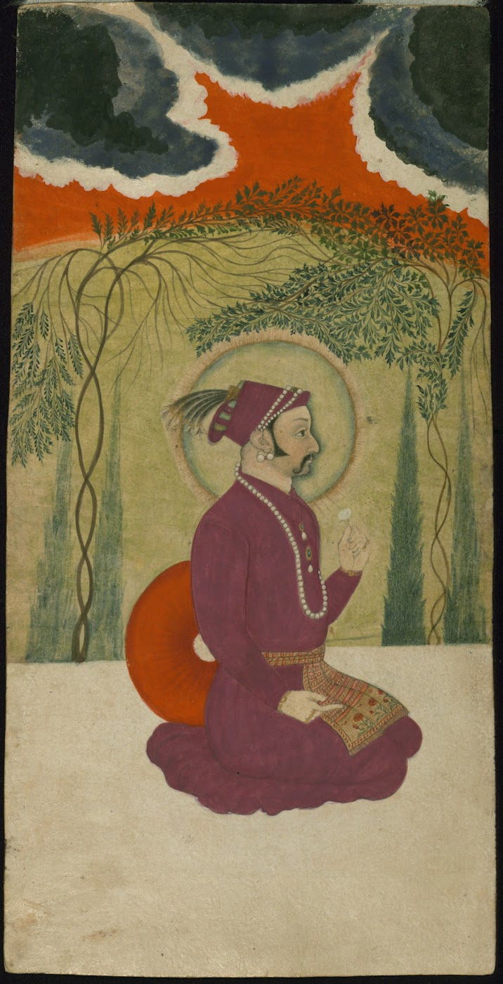 Portrait of a Ruler - Miniature Painting, Circa 18th Century