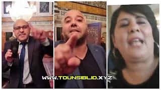 (بالفيديو) سب و شتم و تبادل التهم داخل البرلمان و عبير موسي تتهم راشد الغنوشي في المباشر بالتحريض على قتلها !