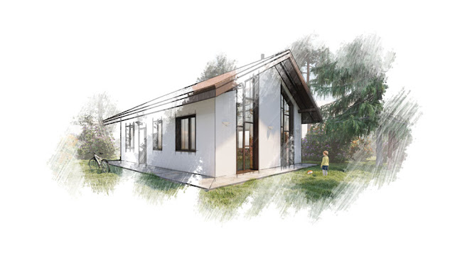 Одноквартирный одноэтажный жилой дом, площадью 116 м2