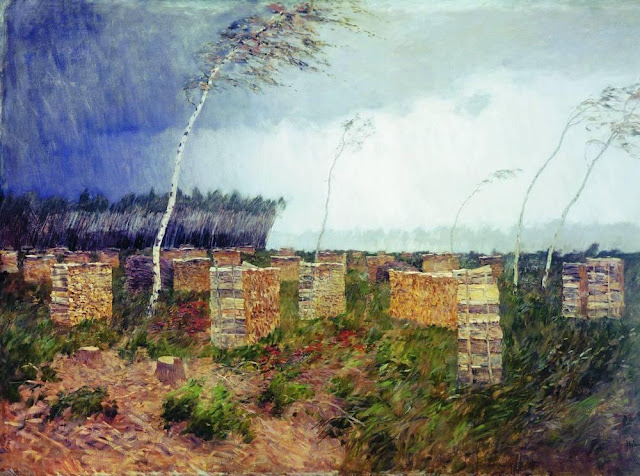 Исаак Ильич Левитан - Буря. Дождь. 1899