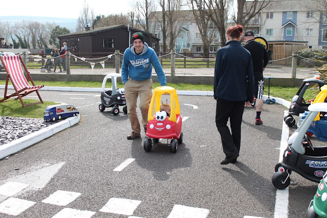 Little Tikes Town racing track at Butlin's just for tots break in minehead