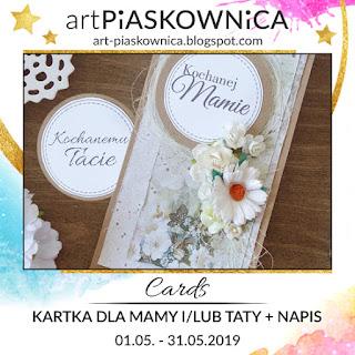 CARDS - kartka dla Mamy i/lub Taty + NAPIS
