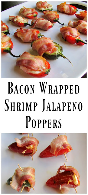 Jalapeno poppers of all kinds are delicious, but the ones with shrimp are among our favorites. Make these bacon wrapped shrimp jalapenos in the oven for a perfect party or game watching snack.
