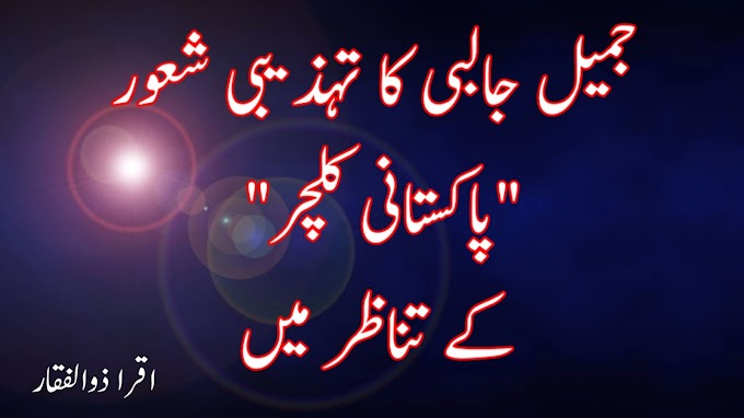 """جمیل جالبی کا تہذیبی شعور """"پاکستانی کلچر""""کے تناظر میں"""