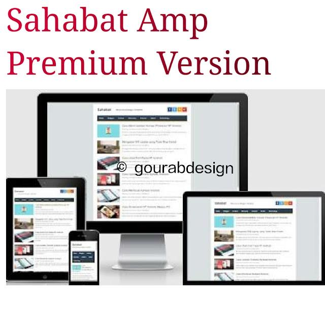 Sahabat amp blogger template