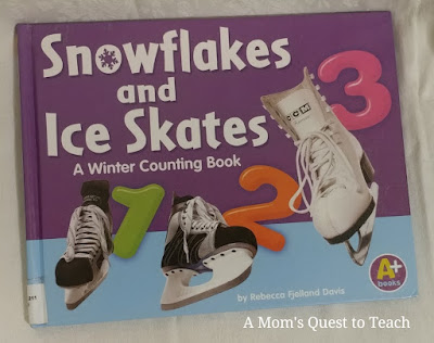 book cover of snowflakes and ice skates