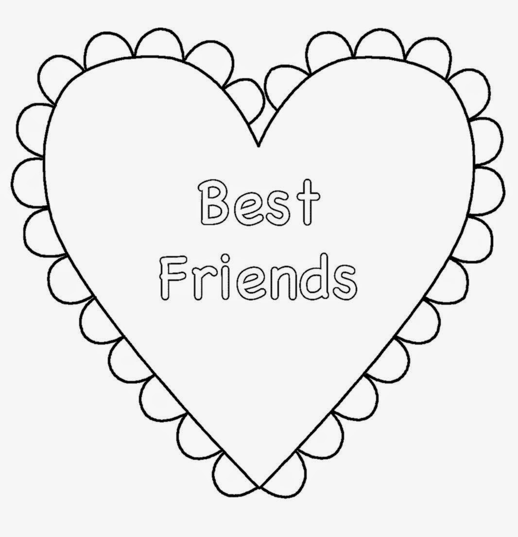 bff pictures coloring pages - photo #20