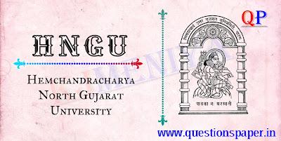 Hemchandracharya North Gujarat University (HNGU) Junior Clerk Question Paper (03-11-2019)