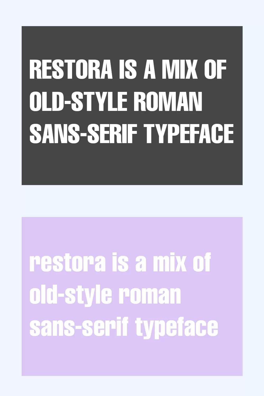 Restora Font
