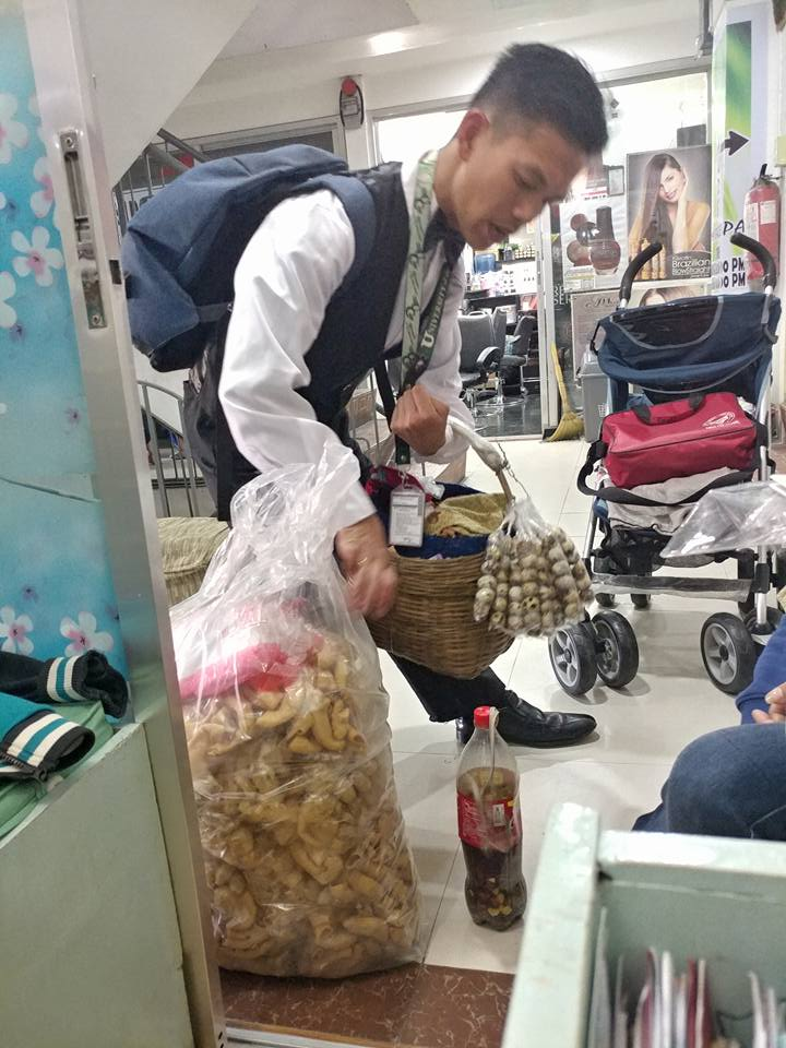 University of Cordilleras Admirable college student sells chicharon and balut