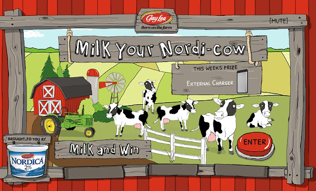 Gay Lea's Nordica Cottage Cheese wants Canadian residents to enter daily by milking a virtual cow for a chance to win great electronics, fitness and kitchen appliance prizes!