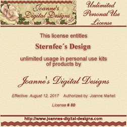Unlimited Personal Use License Joanne´s Digital Designs