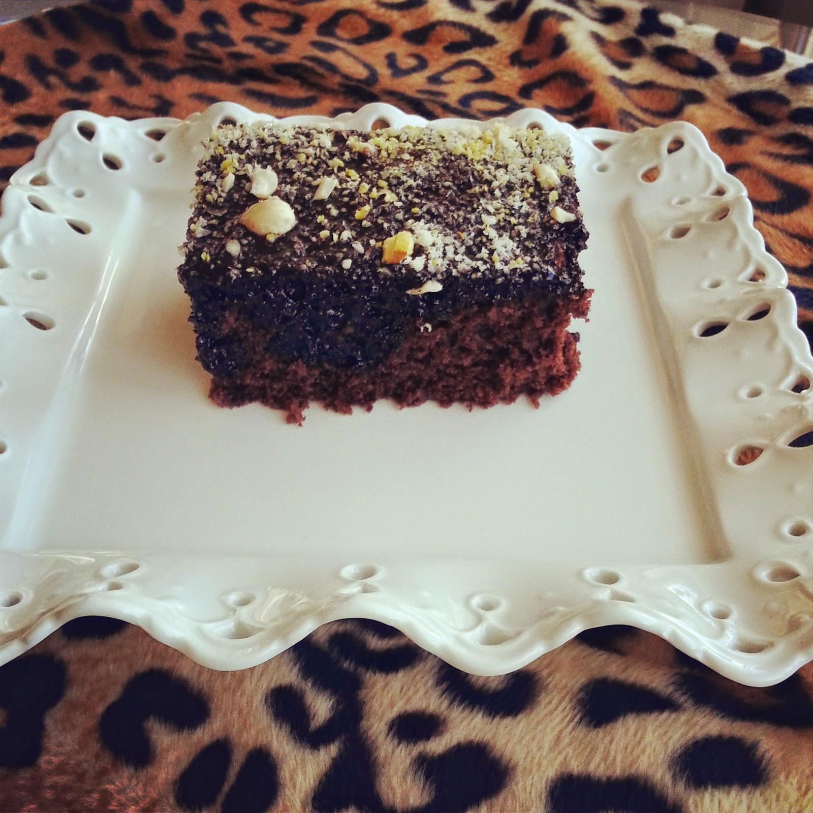 Mikrodalga Fırında Damla Çikolatalı Kek