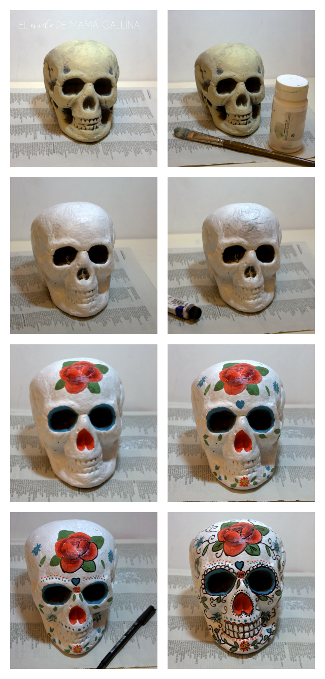 how to paint a sugar skull