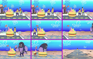 Polosan meme spongebob dan patrick 63 - spongebob dan patrick balapan liar