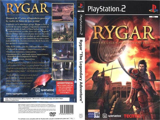 Descargar Rygar - The Legendary Adventure NTSC-PAL ps2 iso: Lanzado en Japón como Argus no Senshi ( アルゴスの戦士? ) , Es un juego de consola para la PlayStation 2 lanzado por primera vez en noviembre de 2002 . Se basa en el original Rygar lanzado para máquinas recreativas y varias consolas. Las nuevas características son una transición de gráficos en 3D y porciones del entorno son destructibles. Fue lanzado al críticas generalmente positivas. El juego está inspirado en griego y la mitología romana y tiene muchos enemigos y mundos que llevan su nombre.
