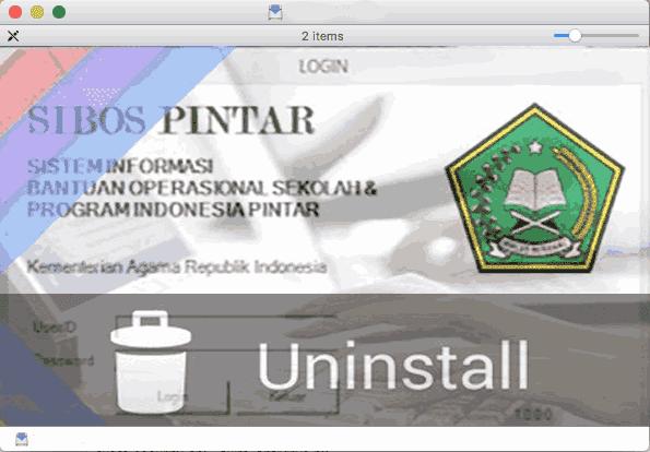 Cara Uninstall atau Hapus Aplikasi SIBOS PINTAR Versi Lama