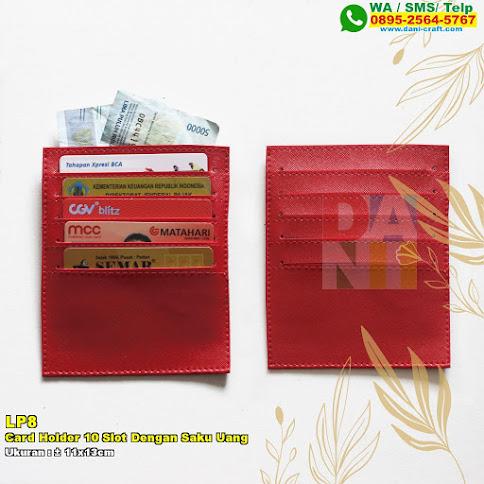 Card Holder 10 Slot Dengan Saku Uang