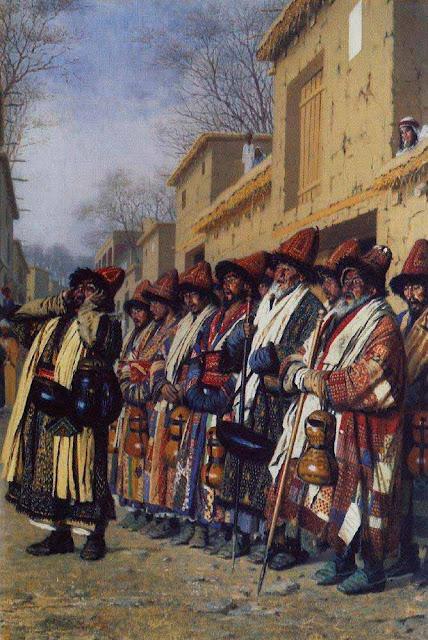 Василий Васильевич Верещагин - Хор дервишей, просящих милостыню. Ташкент. 1870