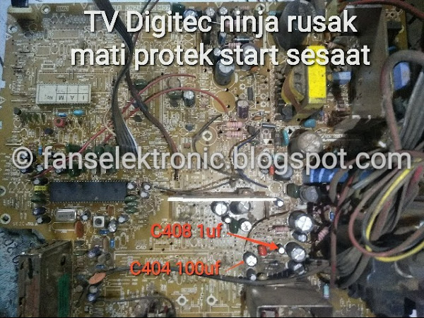 mengatasi tv digitec 14 rusak mati