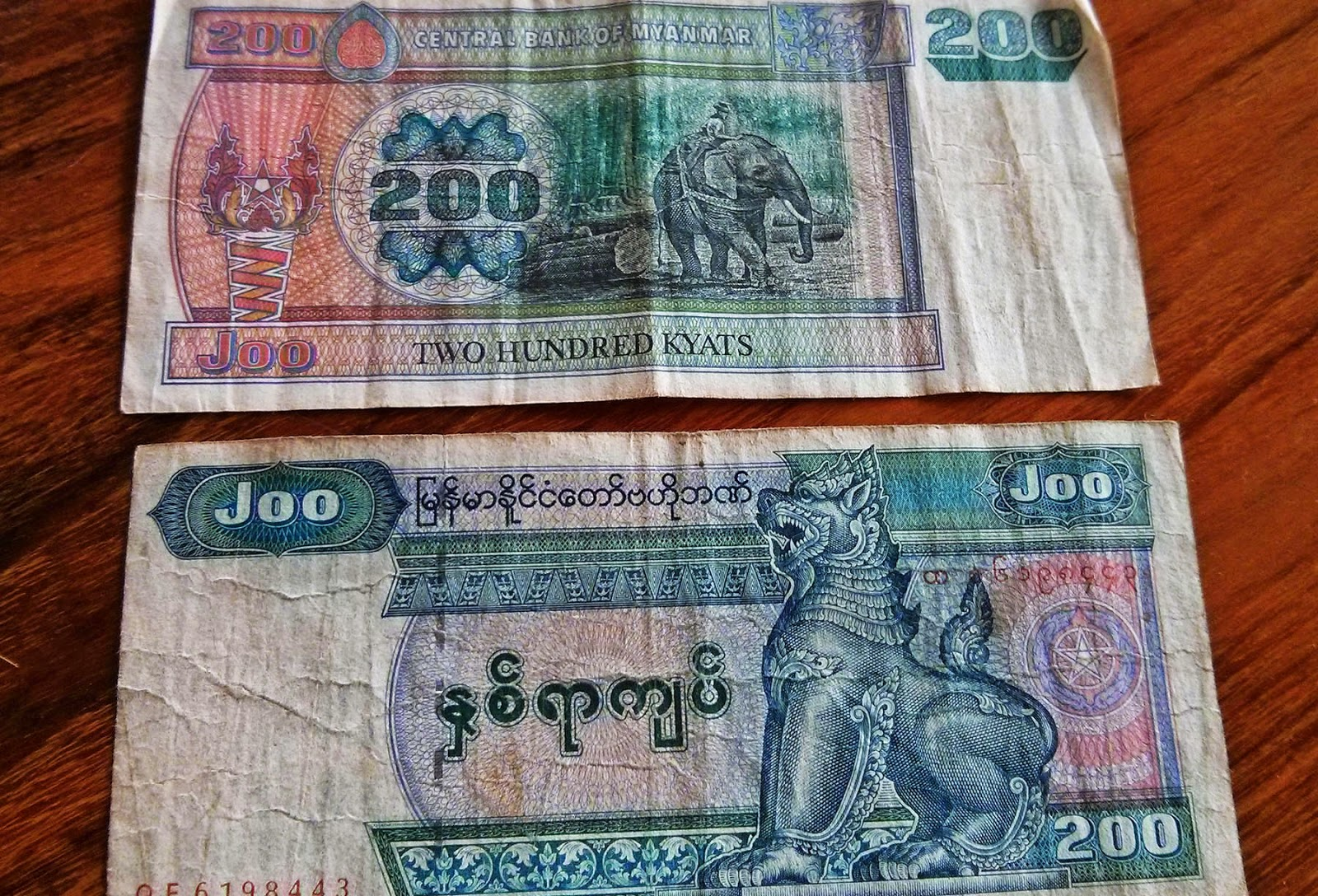Myanmar Kyat la moneda birmana