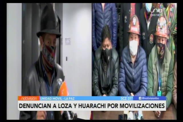 Gobierno anuncia nuevas demandas penales contra Huarachi y Loza
