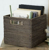 Modern weave storage bin to keep your books