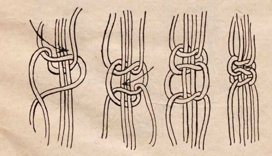 первый узел макраме