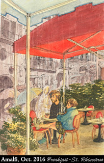 Breakfast in Amalfi, by Ciana Pullen / St. Rhinocéros