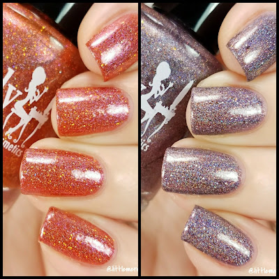 Girly Bits Cosmetics October 2017 COTM Swatches and Review