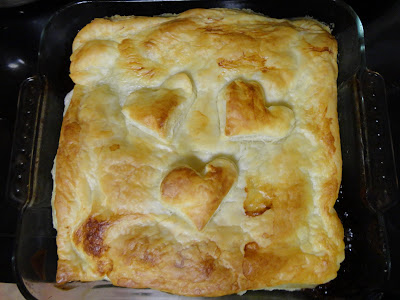 Valentines Hearts Pie
