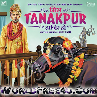 Poster Of Bollywood Movie Miss Tanakpur Hazir Ho (2015) 350MB Compressed Small Size Pc Movie Free Download worldfree4u.com