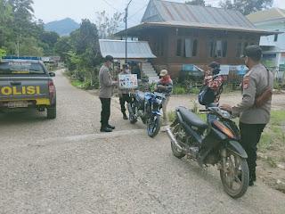 Personel Polsek Malua Polres Enrekang Terus Laksanakan Operasi Yustisi