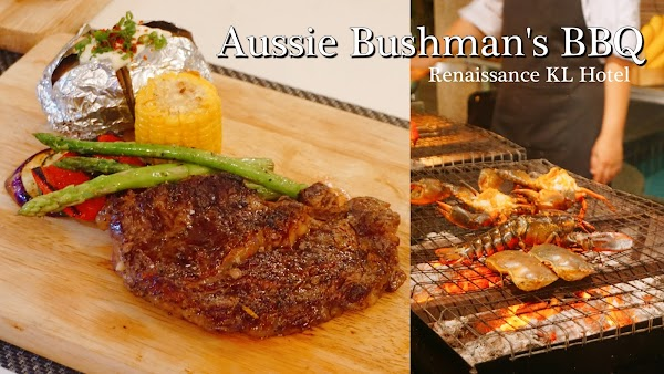 Aussie Bushman's BBQ at the Poolside Gazebo Renaissance KL Hotel