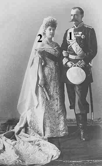 Grand Duke George Mikhailovich of Russia-Princess Maria of Greece and Denmark- Marriage