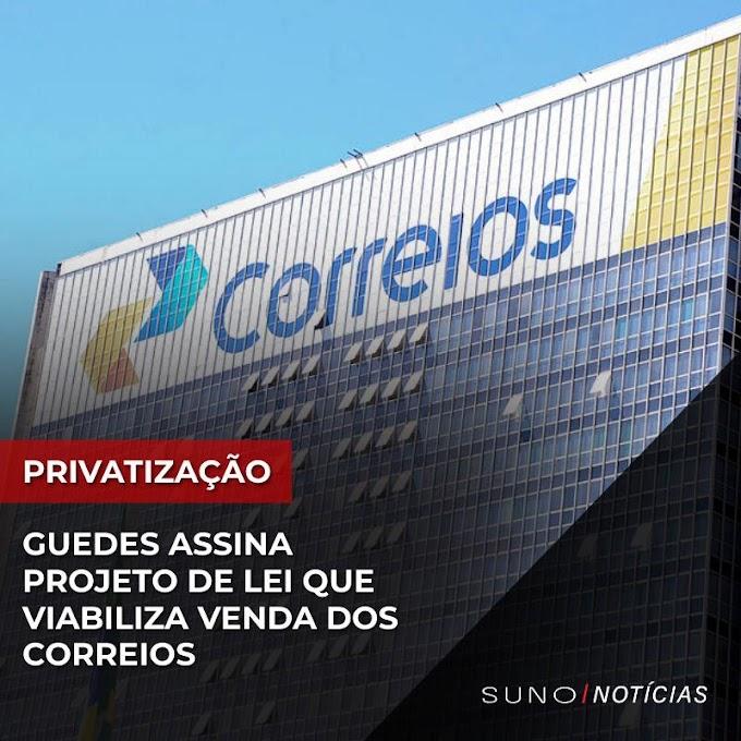 Guedes assina projeto de lei que viabiliza venda dos Correios