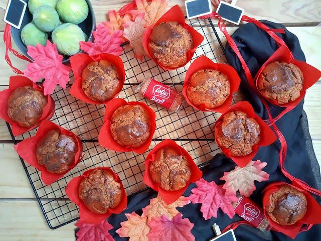Muffins de higos y crema de galletas Lotus Desayuno, merienda, postre, magdalenas, otoño, brevas, horno, sencillo, fácil, rico, jugosos, esponjosos, tiernos, cuca