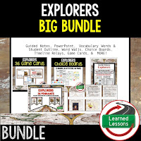 Explorers, Ancient World History Mega Bundle, Ancient World History Curriculum, World History Digital Interactive Notebooks, World History Choice Boards, World History Test Prep, World History Guided Notes, World History Word Wall Pennants, World History Game Cards, World History Timelines