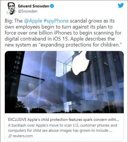 فضيحة شركة آبل متهمة في قضية التجسس على مستخدمي iCloud