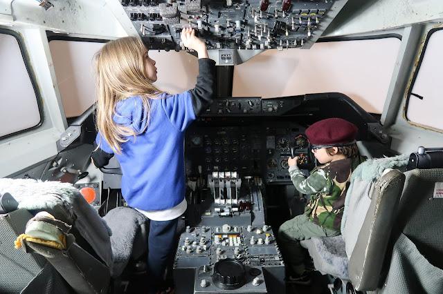 Passenger plane cockpit