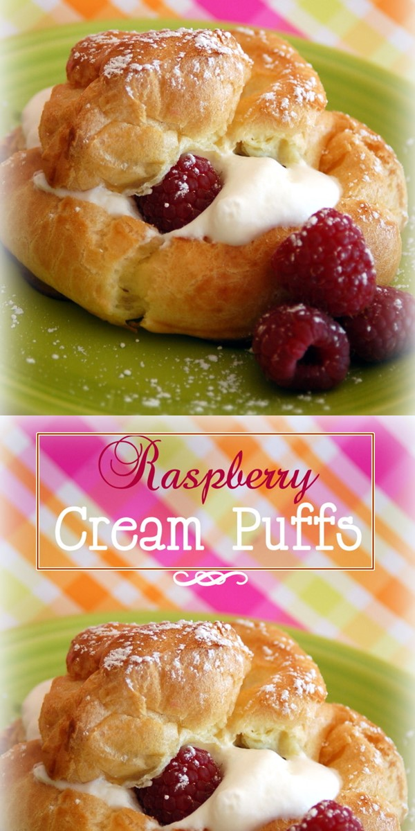 Raspberry Cream Puffs #Breakfastideas