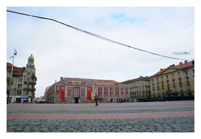 Piata Libertatii din Timisoara dupa renovari, octombrie 2015