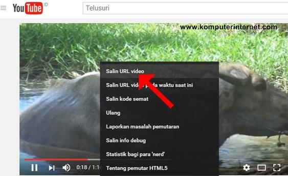 Melihat link URL ketika Video Youtube sedang Ditayangkan