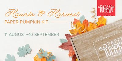 Header for Haunts & Harvest Paper Pumpkin Kit September 2021