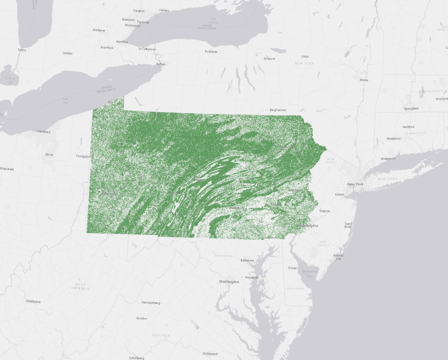 Pennsylvania Statewide High-Resolution Tree Canopy | Letters from