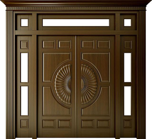 cửa gỗ căm xe- mẫu 7