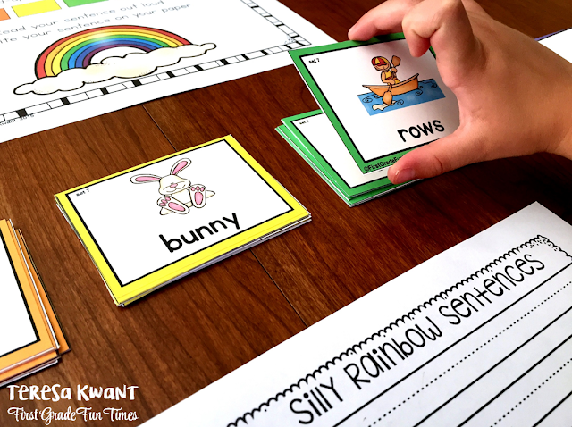 Use these rainbow sentences to teach parts of speech, reading fluency, writing fluency, and more. Your students will have so much fun creating sentences!