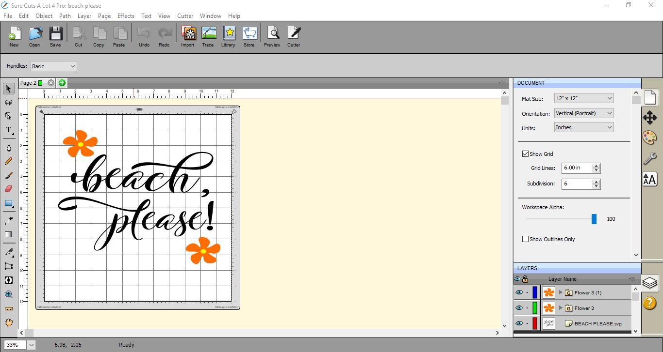 Sure Cuts a Lot 4 Basics - Saving files | Design Bundles