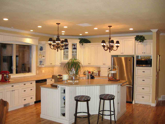 minimalist country kitchen lighting with amazing wooden floor and double height seats plus white wooden cooking desk